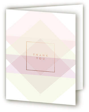 Geo Pastels Adult Birthday Party Thank You Cards