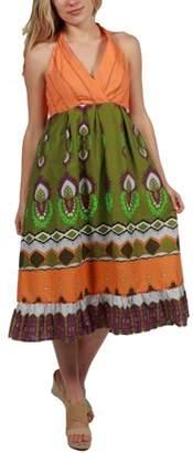 24/7 Comfort Apparel 24Seven Comfort Apparel Melinda Halter Summer Dress