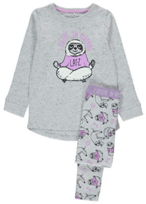 George Grey Marl Sloth Pyjamas