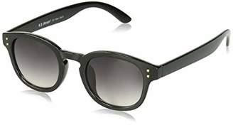 Morgan A.J. Sunglasses Unisex-Adult Moe 53786-BLK Round Sunglasses