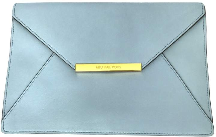 Michael Kors Leather clutch bag - BLUE - STYLE