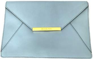 Michael Kors Blue Leather Clutch Bag