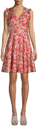 Rebecca Taylor Silk Cherry Blossom Mini Dress
