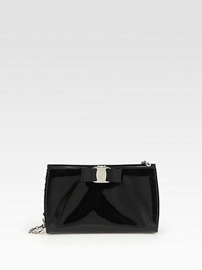 Salvatore Ferragamo Miss Vara Patent Leather Bow Mini Bag