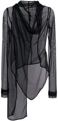 Rick Owens Lilies sheer oversized jacket