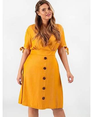 Koko Mustard Wrap Dress