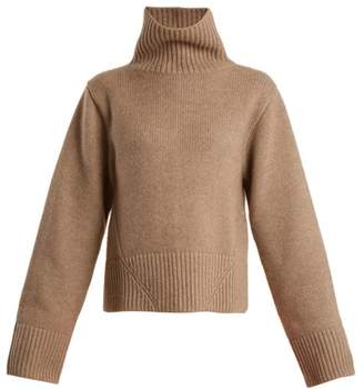 Wallis Khaite High Neck Cashmere Sweater - Womens - Beige