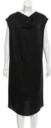 Saint Laurent Silk Draped Dress