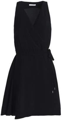 Dagmar House Of Violet Hammered-sateen Mini Wrap Dress