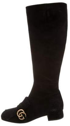 Gucci 2017 Marmont Knee-High Boots Black 2017 Marmont Knee-High Boots