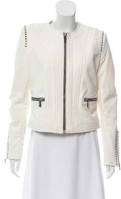Barbara Bui Embellished Leather Jacket w/ Tags