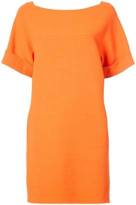 Oscar de la Renta shift dress with back tie