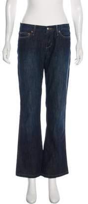 Joe's Jeans Mid-Rise Wide-Leg Pants