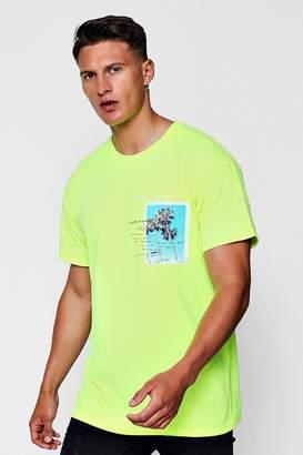 boohoo Ventura Beach Print Oversized T-Shirt