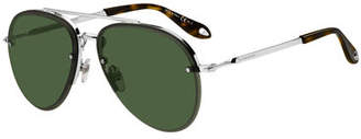 Givenchy Men's Rimless Aviator Sunglasses
