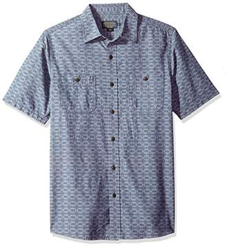 Pendleton Men's Short Sleeve Fitted Chambray Shirt