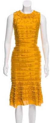 Oscar de la Renta Textured Sheath Dress