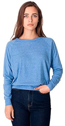 American Apparel Women's Tri-Blend Rib Light Weight Raglan Pullover $13.24 thestylecure.com
