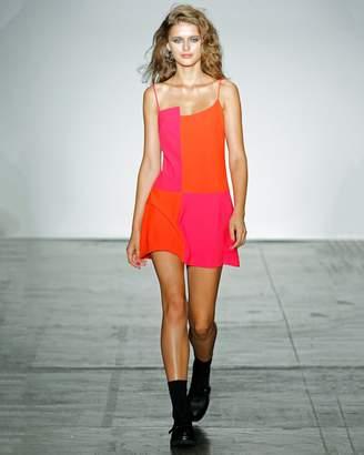 Nicole Miller Color Block Strappy Mini Dress