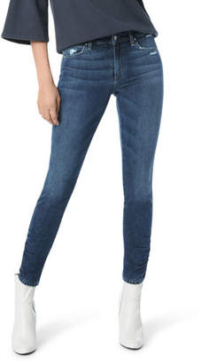 Joe's Jeans The Icon Skinny-Leg Ankle Jeans w/ Ruched Hem
