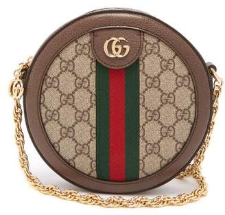 Gucci Ophidia Gg Leather Cross Body Bag - Womens - Grey Multi