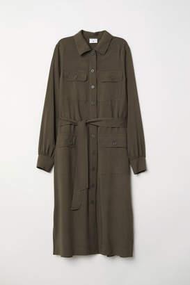 H&M Long Shirt Dress - Green