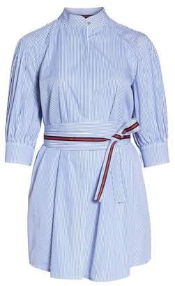1901 Stripe Tie Waist Shirtdress