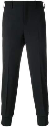 Neil Barrett slim fit trousers with elasticated cuffs