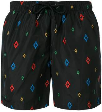 Marcelo Burlon County of Milan multicoloured logo print swim shorts