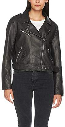 Only Women's onlLUNA Crop Faux Leather Biker OTW NOOS Jacket