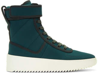 Fear Of God Green Military High-Top Sneakers