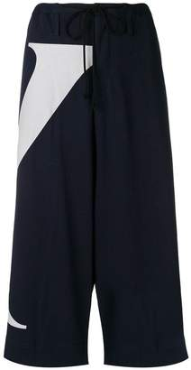 Y's colour-block cropped trousers