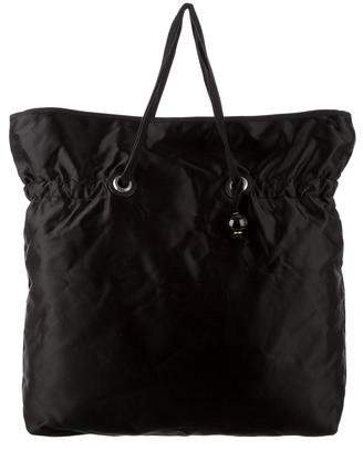 Lanvin Leather-Trimmed Satin Tote