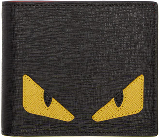 Fendi Black 'Bag Bug' Wallet $450 thestylecure.com
