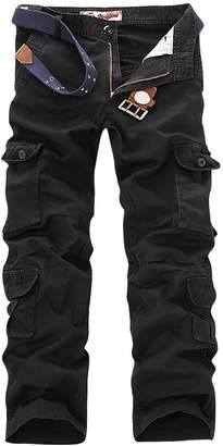 3.1 Phillip Lim Aubig Men's Military Army Pants Casual Tactical Trousers Multiple Pocket Cargo Pants- 32