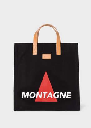 Paul Smith 'Montagne' Print Black Canvas Tote Bag