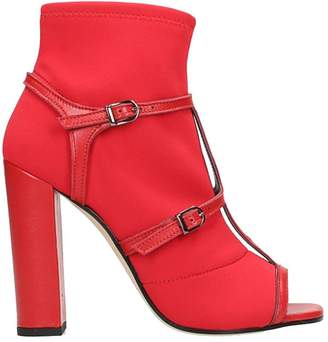Marc Ellis Red Open Toe Ankle Boots