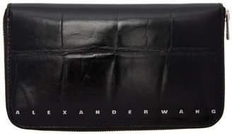 Alexander Wang Black Croc Dime Continental Wallet
