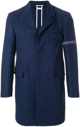 Thom Browne Engineered Stripe Classic Unconstructed Chesterfield Overcoat