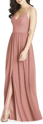 Dessy Collection Spaghetti Strap Chiffon Gown