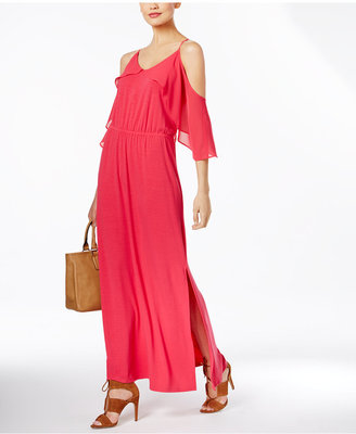 NY Collection Off-The-Shoulder Maxi Dress $70 thestylecure.com