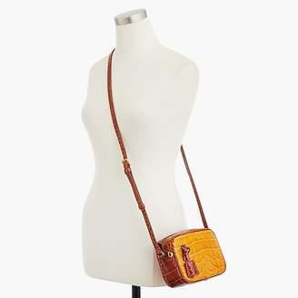 J.Crew Mini Signet bag in embossed croc leather