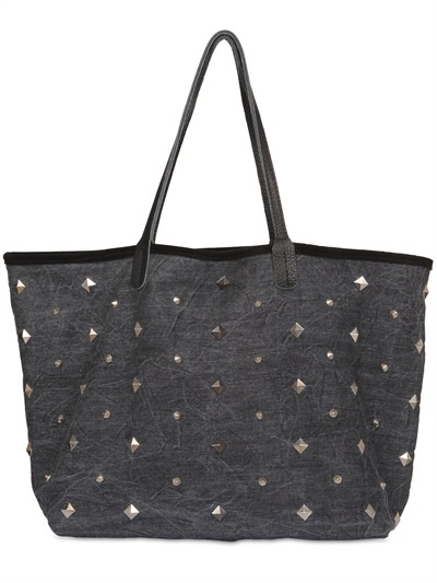 Dimitris Zoz - Studded Denim Reversible Tote