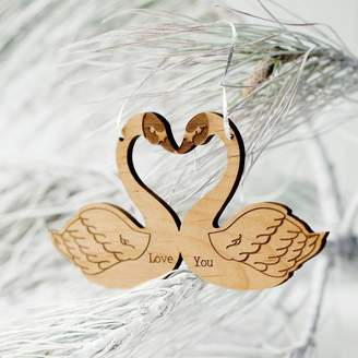 Seahorse Love Token Swan Decoration