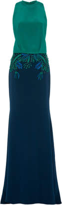 Cushnie Embroidered Silk Gown