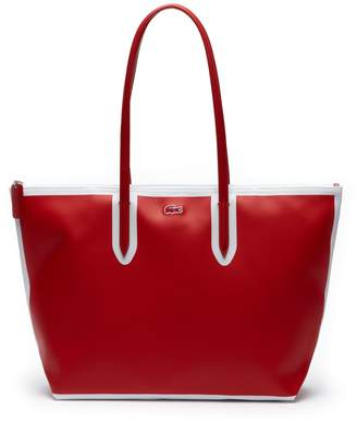 Lacoste Women's L.12.12 Concept Colorblock Petit Pique Large Zip Tote Bag