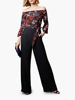 Bardot Wide Leg Floral Jumpsuit, Multi