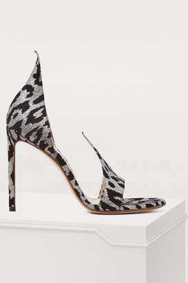 Francesco Russo Leopard sandals