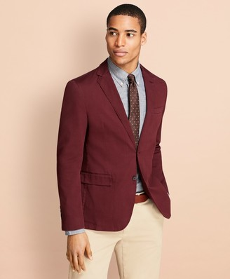 Brooks Brothers Garment-Dyed Stretch Cotton Dobby Sport Coat