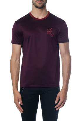 Alexander McQueen Burgundi Cotton T-shirt With Logo